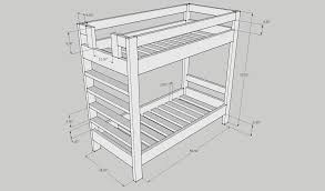 Building A Bunk Bed 2x4 Bunk Bed Plans Easy To Build Bed Plans These Bed Plans Require