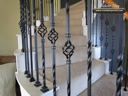 Iron Banister Spindles Decorations Ornate Iron Stair Balusters In Spiral Stair Design