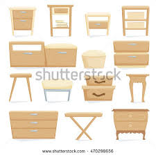 bedroom furniture bedside cabinets interior furniture set bedroom furniture bedside stock vector hd