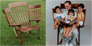 triple rocking chair innovative chair holds three children