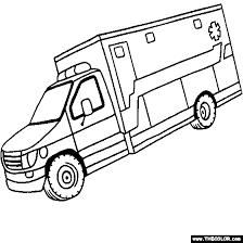 ambulance coloring page kids pinterest ambulance coloring