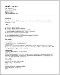 objective for receptionist resume cover letter receptionist this