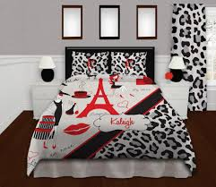 red gray black paris theme bedding cheetah print bedding zoom