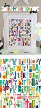 free happy birthday printable i nap time