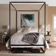 Metal Canopy Bed Baxton Studio Ts Black Vintage Industrial Black