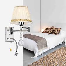 Crystal Bedside Wall L 3w Led Reading Light L Plumbing Hose