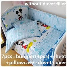 Mickey Mouse Crib Bedding Sets Discount 6 7pcs Baby Bedding Set 100 Cotton Crib Bedding