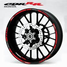 honda cbr 600 rr fireblade honda cbr rr red wheel stripes decal set for 600rr 900rr 1000rr
