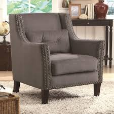 accent chair with nailhead trim modern chairs quality interior 2017