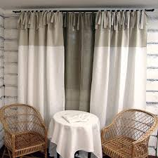 stunning white tie top curtains decor with linen curtain panel