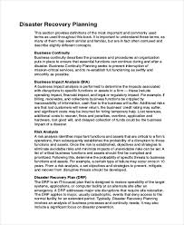 9 disaster recovery plan examples free u0026 premium templates