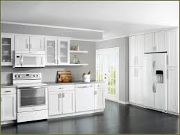 white kitchen cabinets with appliances cream colored are out