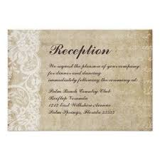 Wedding Reception Card Vintage Lace Old World Wedding Reception Card Wedding Reception