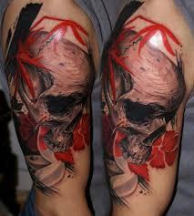 skull by csaba kolozsvari design of tattoosdesign of