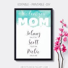 mother u0027s day printables amistyle digital art