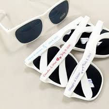 personalized sunglasses wedding favors white sunglasses with personalized labels personalized wedding
