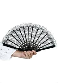 lace fan black lace fan