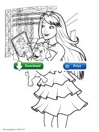 coloring pages barbie the princess and the popstar full movie