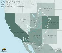 Colorado River On A Map by The Colorado River Ecosystem Conflict And Conservation Outdoor