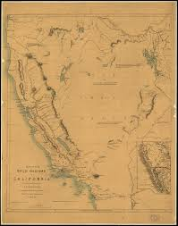 Map Of California And Mexico by Map Of The Gold Regions Of California World Digital Library