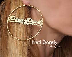 name hoop earrings name hoop earrings etsy