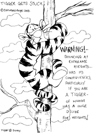 tigger gets stuck b w by tiggercrazyfans on deviantart