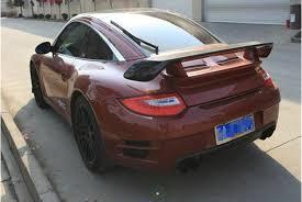 porsche gt price 2011 carbon fiber car rear font b wing b font trunk lip deck spoiler for font jpg