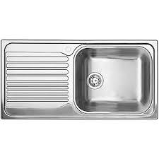 Blanco Single Bowl LeftHand Drainboard Topmount Stainless Steel - Stainless steel kitchen sinks canada