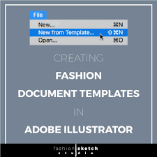 creating a document template in adobe illustrator fashion sketch