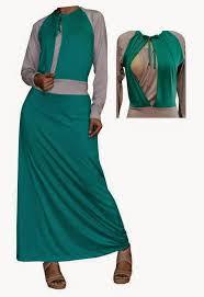 desain baju gamis hamil model baju hamil batik gamis muslim terbaru 2015