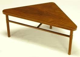 triangle shaped coffee table triangle side table housetohome co