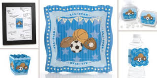 sports baby shower theme all sports baby shower decorations theme babyshowerstuff