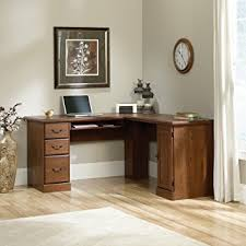 Sauder Traditional L Shaped Desk Stylish Sauder L Shaped Desk In Orchard Computer