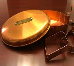 vintage copper cookie cutter canister cookie cutter set cookie