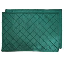 forest green table linens rectangle placemats forest green pintucked rectangular placemat at
