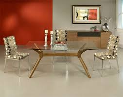 glass and wood dining room table 6472