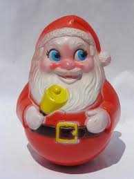 Vintage Plastic Christmas Lawn Ornaments by Roly Poly Plastic Santa Claus Vintage Christmas Toy Or Decoration