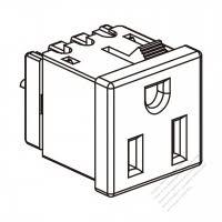usa canada flush mount receptacle nema 6 15 20r 2 p 3 wire