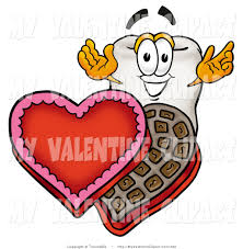valentine u0027s clipart of a sweet tooth mascot cartoon character with