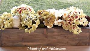 diy wood box centerpiece meatloaf and melodrama