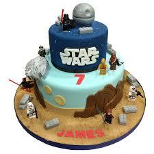 wars cakes 2 tier lego wars cake