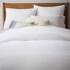 West Elm Pintuck Duvet Cover Bedroom Organic Ripple Texture Duvet Cover Shams West Elm Textured