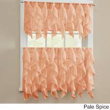 shabby chic valances chic sheer voile vertical ruffled tier window curtain valance and