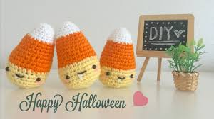 Halloween Candy Bags Craft by Diy Halloween Candy Corn Crochet Tutorial Amigurumi Youtube