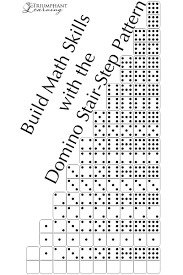 domino build math skills with the domino stair step pattern triumphant