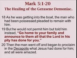 L K He Miracles Of Jesus Mt 8 Mk 5 Lk 8 Seeking Truth