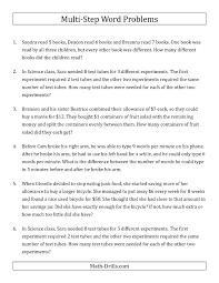 solving multi step equations word problems worksheet tessshebaylo