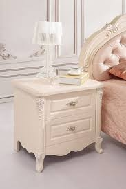 2016 real new high class european style bedside table nightstand