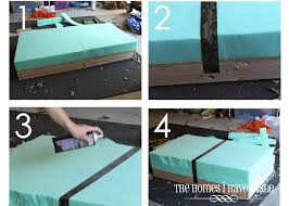 chic diy ottoman from this old coffee table hello i live here