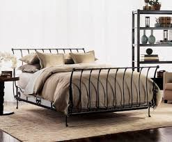 iceland wrought iron double bed frame antique pewter the best